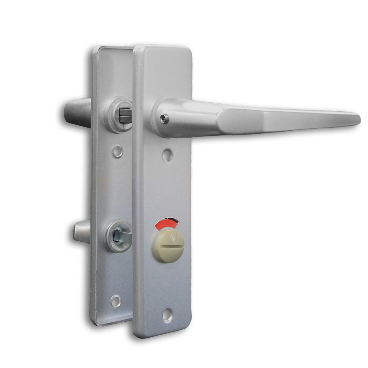 Türbeschlag WC mit Frei-Besetzt-Anzeige / Kurzschildgarnitur WC