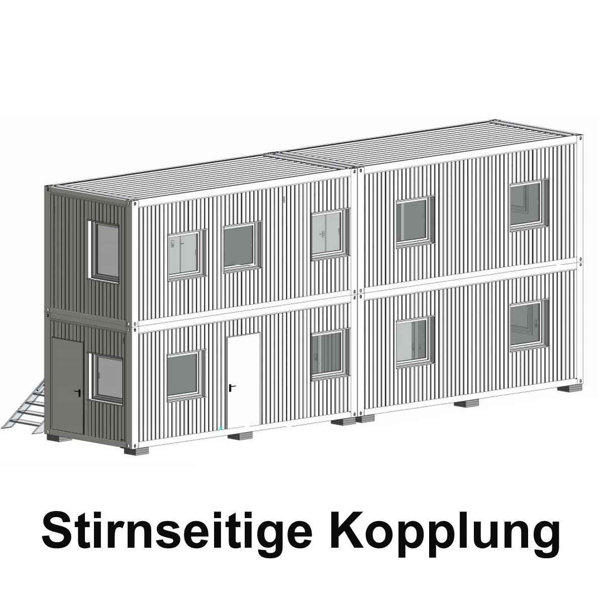 Verbindungsklammer Raumcontainer horizontal /Außenverschraubung