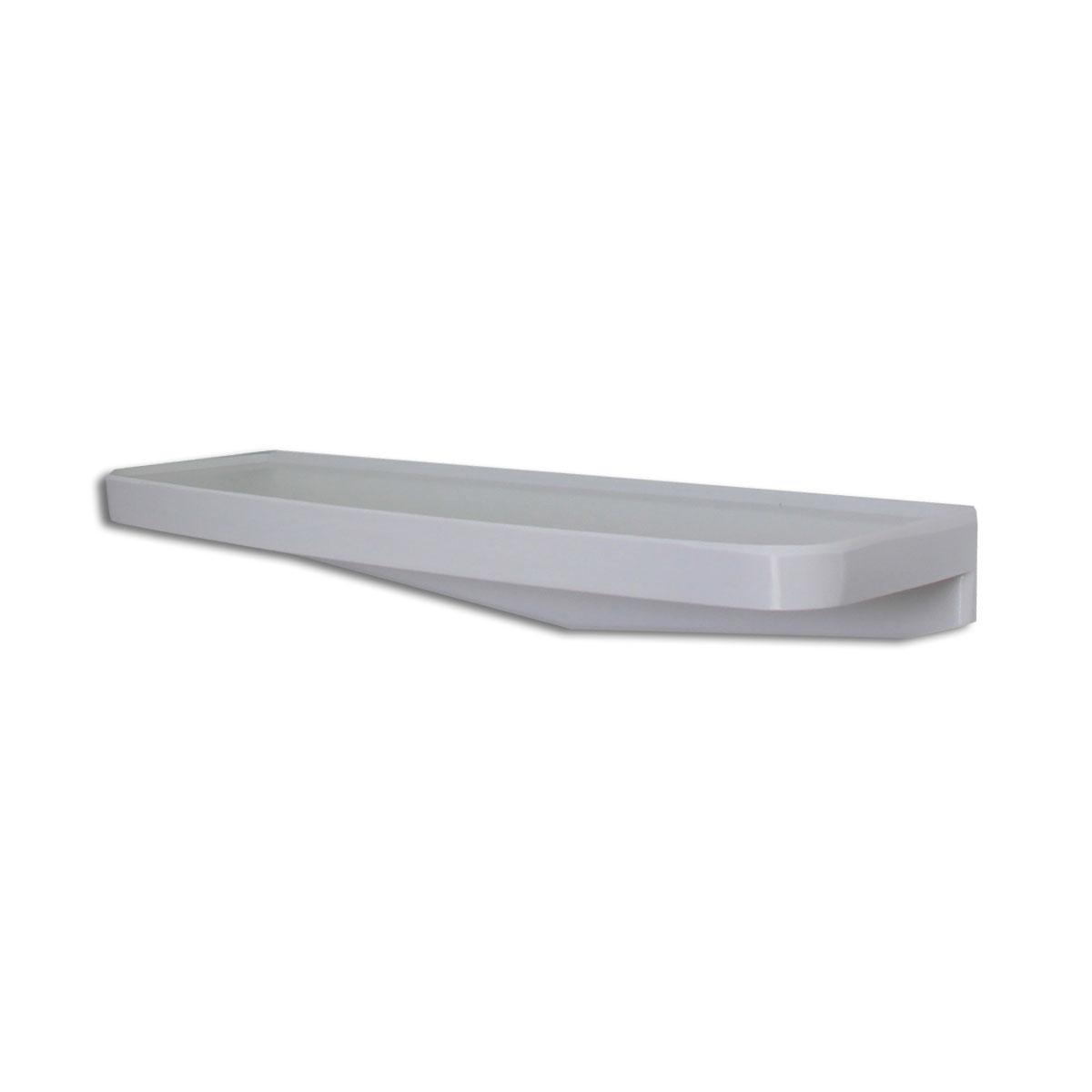 Wandablage, Badregal, Spiegelablage, weiß, aus Kunststoff