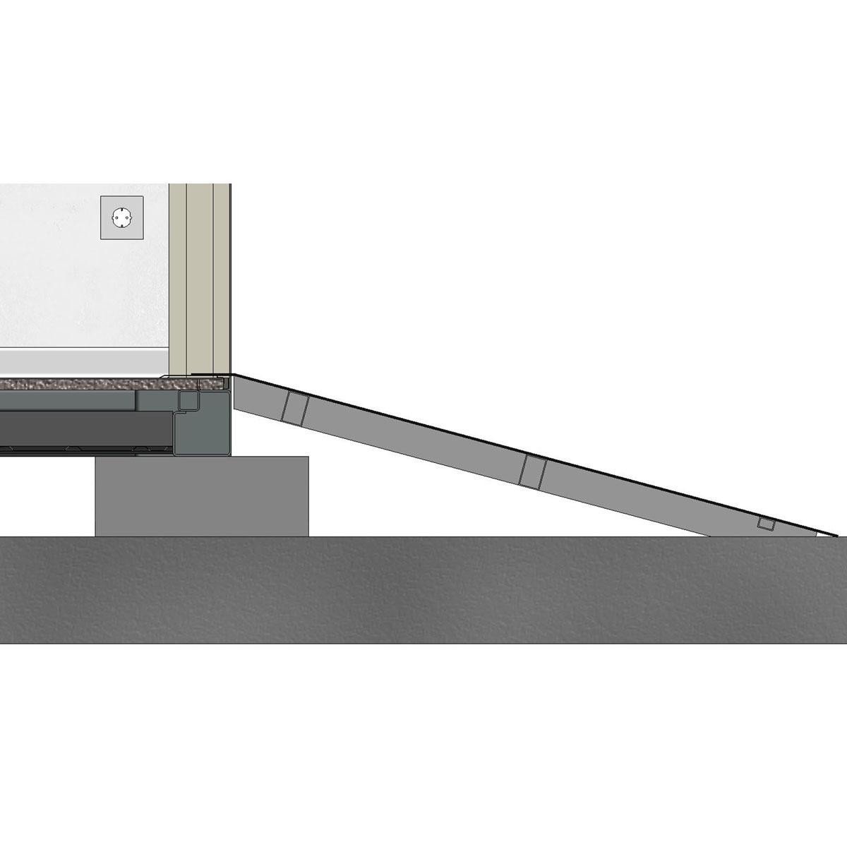 Leichte Auffahrrampe für Lager- / Seecontainer