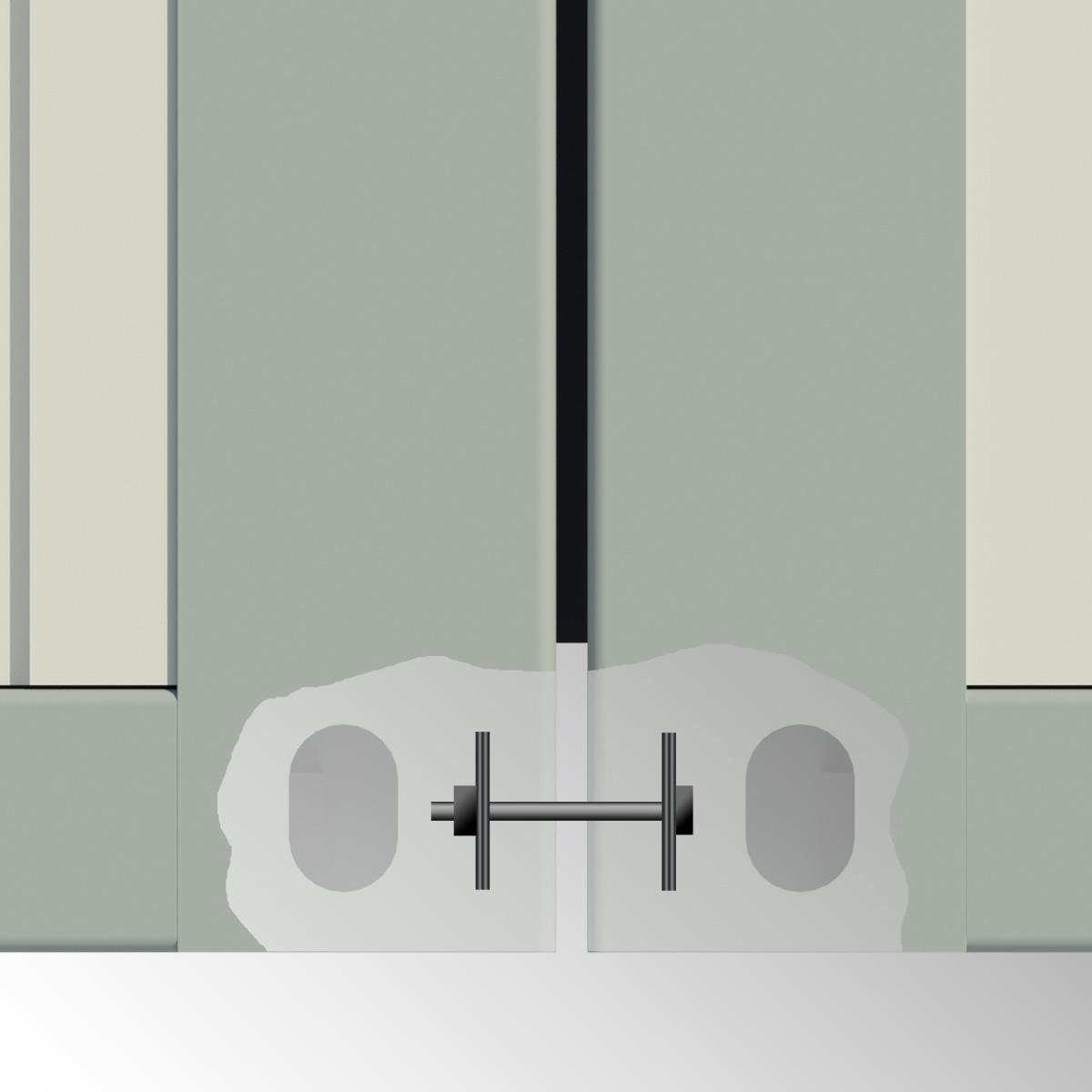 Innenverschraubung für Container - verzinkt