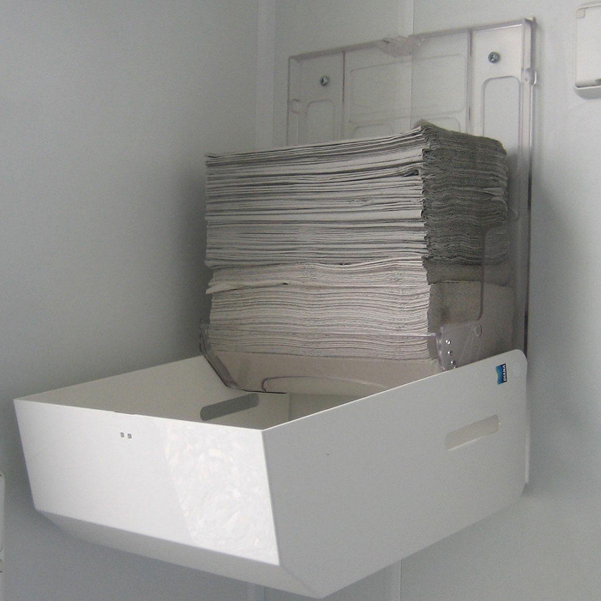 Papierhandtuchspender, Faltpapierspender mit Sichtfenster, Kunststoff