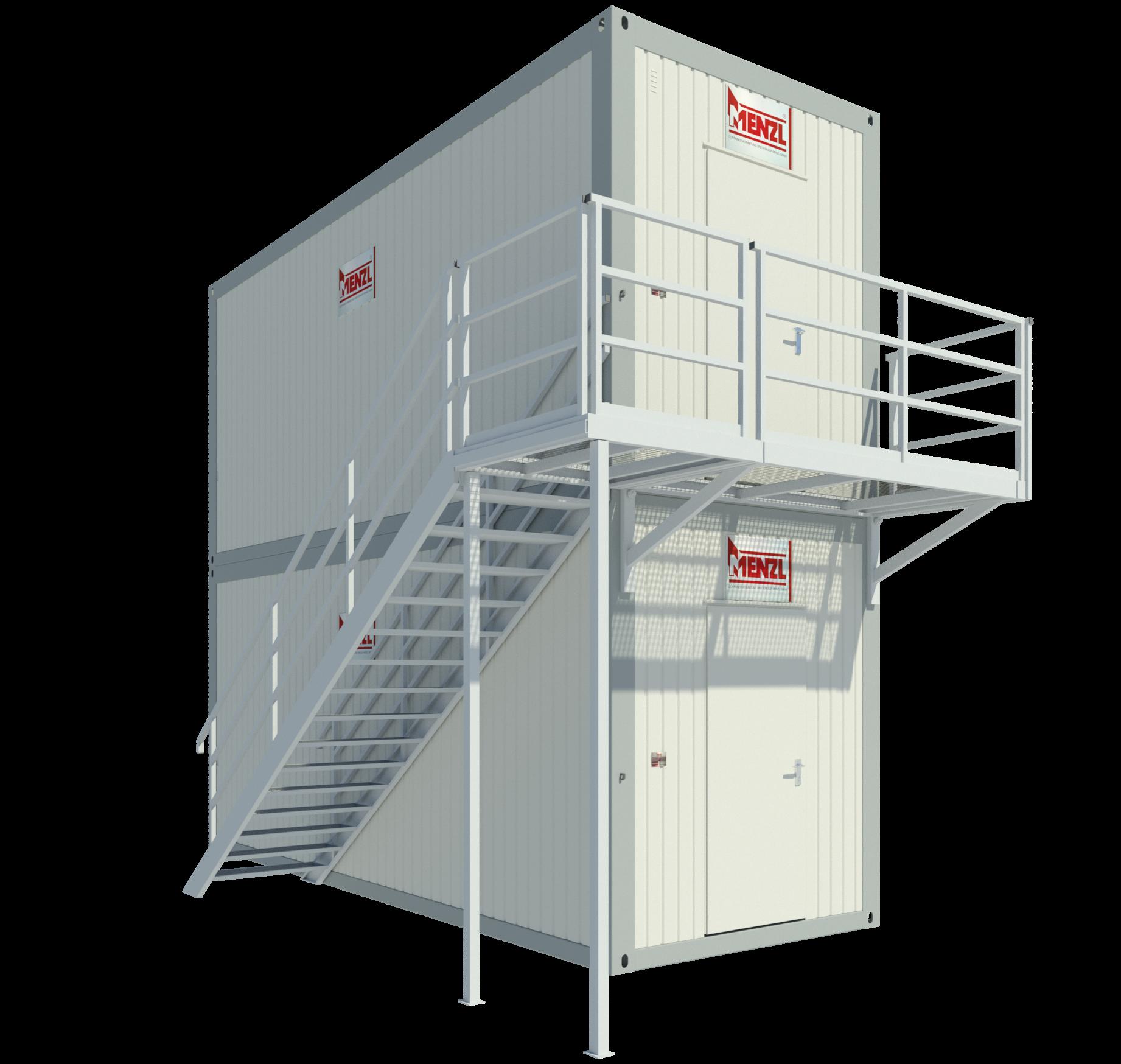 Treppensystem / Aufgangsmodul längsseitig & Laufsteg stirnseitig