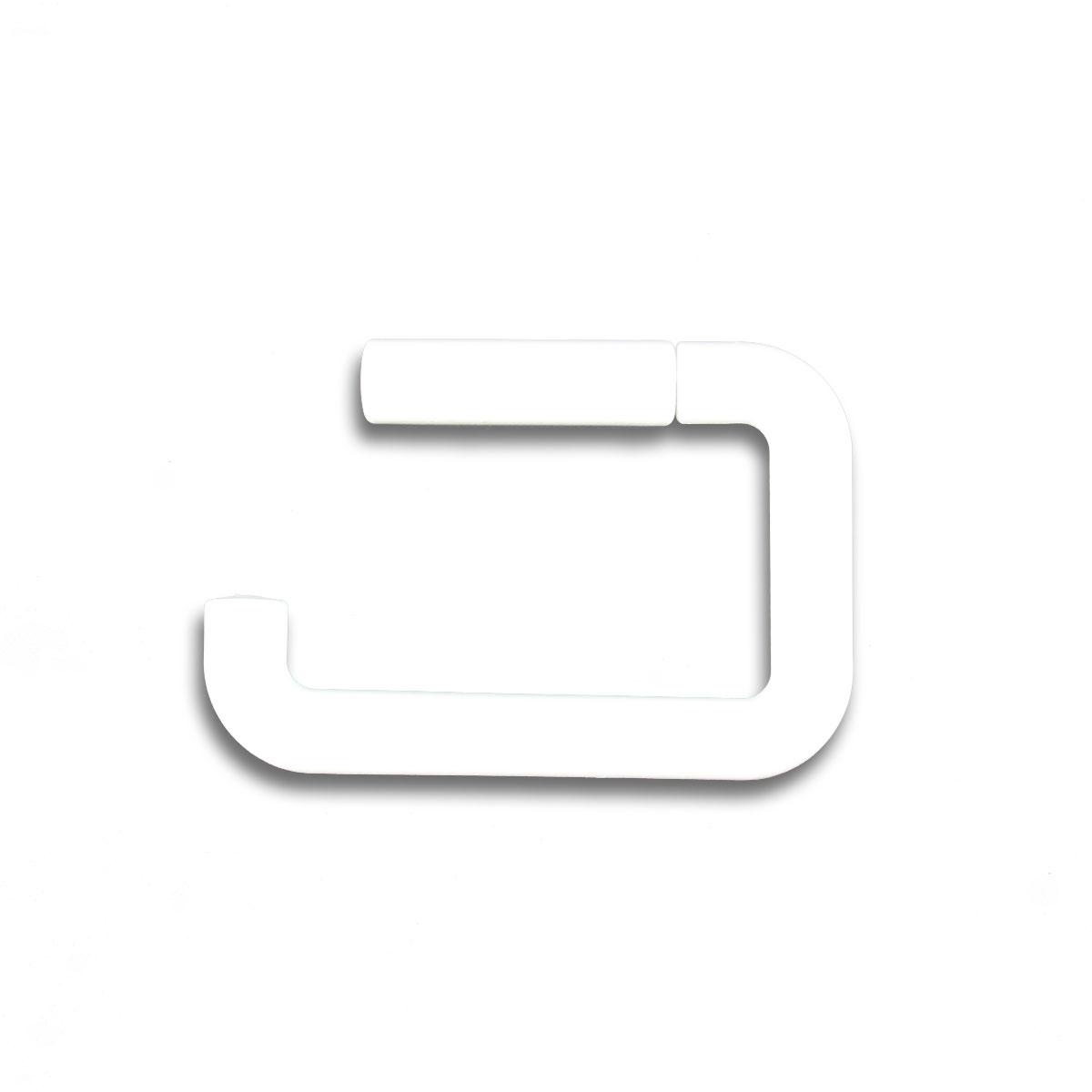 Wandmontierter Toilettenrollenhalter aus Kunststoff, weiß