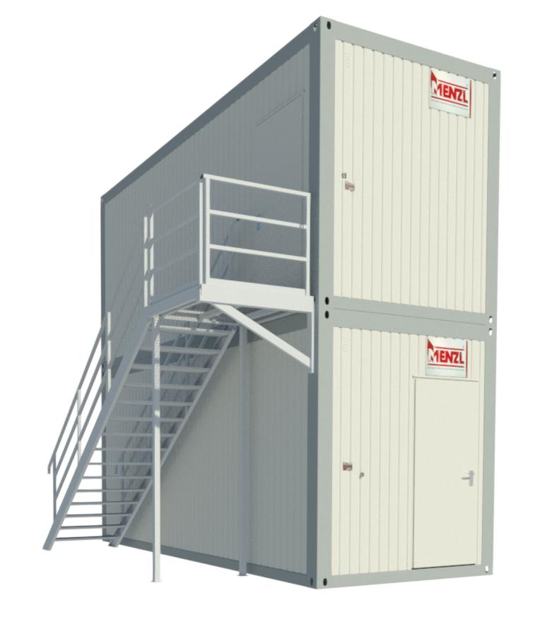Treppensystem / Aufgangsmodul & Podest Längsseitig
